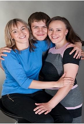 Зиганшины Гульнара, Руслан и Наталья